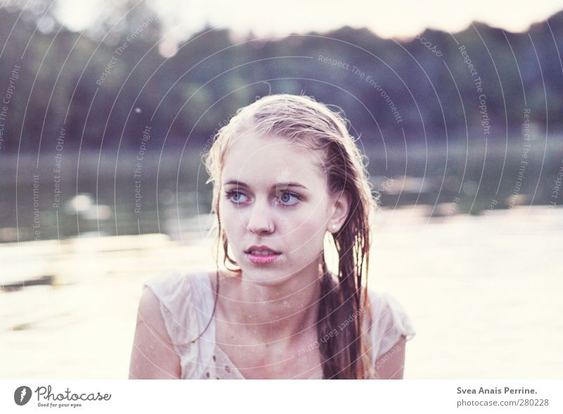 Human being Nature Youth (Young adults) Water Adults Face Cold Feminine Hair and hairstyles Head Lake Dream Swimming & Bathing 18 - 30 years Blonde Wet