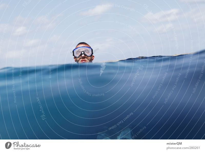 Immerse yourself. Environment Climate Esthetic Contentment Beautiful weather Ocean Sea water Sea level Swimming & Bathing Snorkeling Mediterranean sea