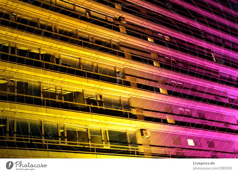 City North 1 Visual spectacle Port City Downtown Deserted Building Architecture Facade Window Looking Exceptional Yellow Violet Pink Colour photo Exterior shot