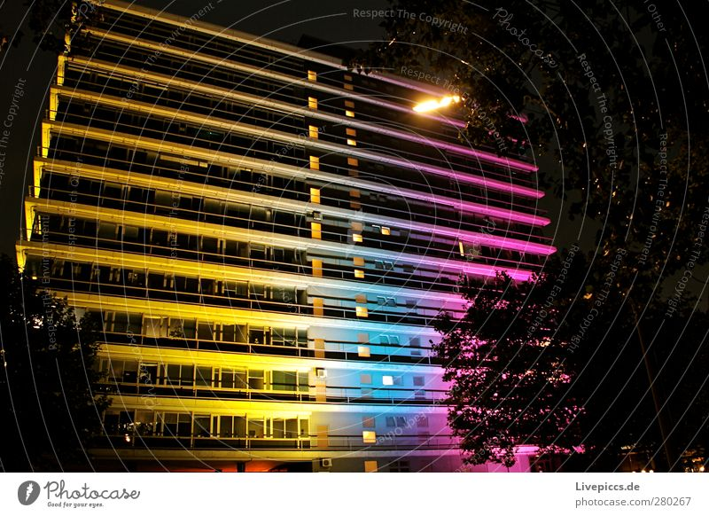 Blue White Black Yellow Pink High-rise Violet Visual spectacle Port City