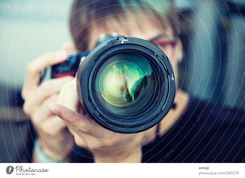 Human being Youth (Young adults) Green Adults Young man 18 - 30 years Exceptional Masculine Camera Lens Objective
