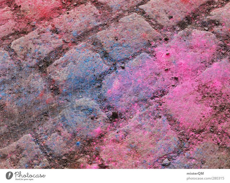 Holi Shit III Art Esthetic Floor covering Ground Paving stone Colour photo Dye Patch of colour Play of colours Color gradient Colour tone Colour palette