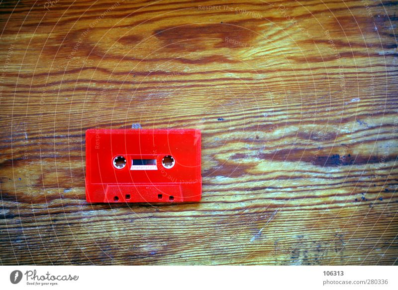 Photo number 240149 Collector's item Old Uniqueness Eroticism Red Tape cassette mc Analog Dirty Music Listening Occur unplayed Multicoloured Tone Retro Vintage