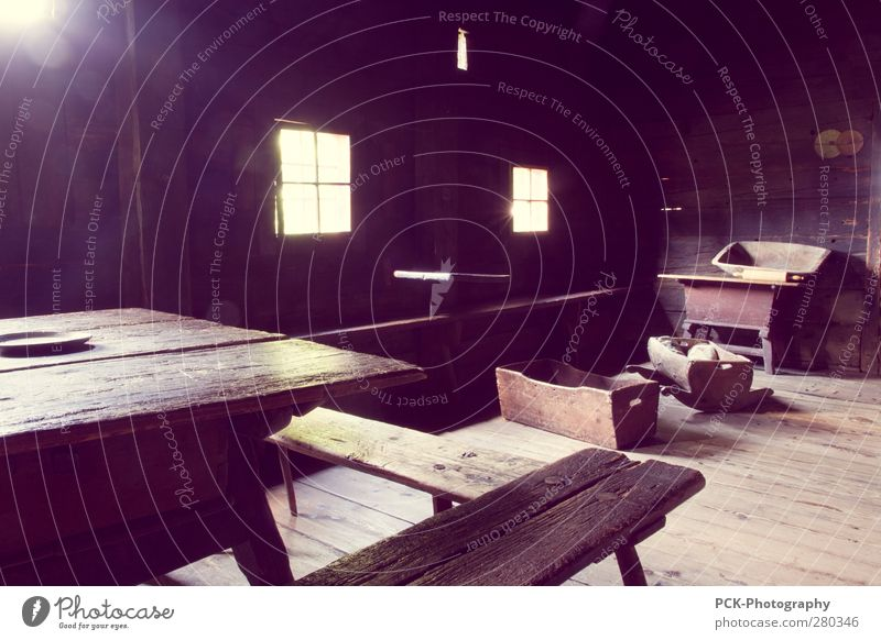 farm House (Residential Structure) Hut Window Old Violet Black Wood Floor covering Car Window Visual spectacle Back-light Interior shot Old times
