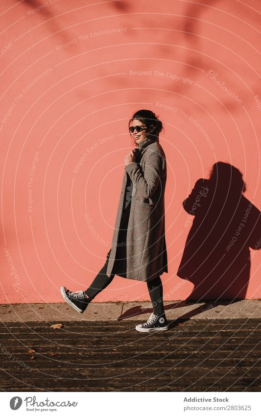 Attractive stylish lady in sunglasses Woman Style Hip & trendy Sunglasses Coat Youth (Young adults) Beautiful Fashion Elegant Easygoing Lady Lifestyle Model