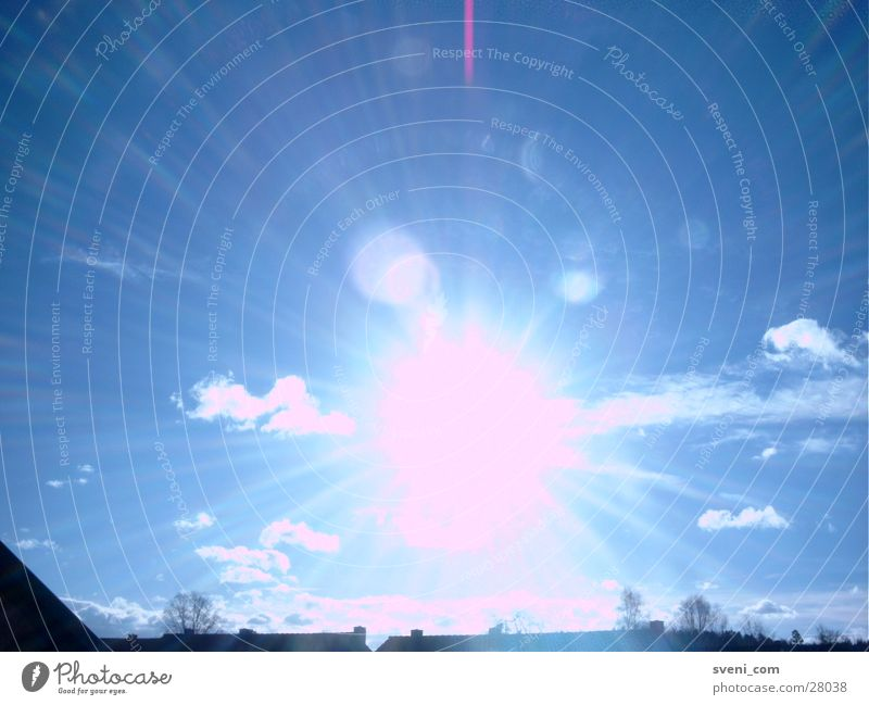 Sky Sun Blue Clouds Lighting Reaction Lens flare