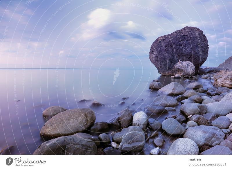 Sky Blue Summer Ocean Beach Clouds Landscape Coast Gray Horizon Rock Weather Beautiful weather Bay