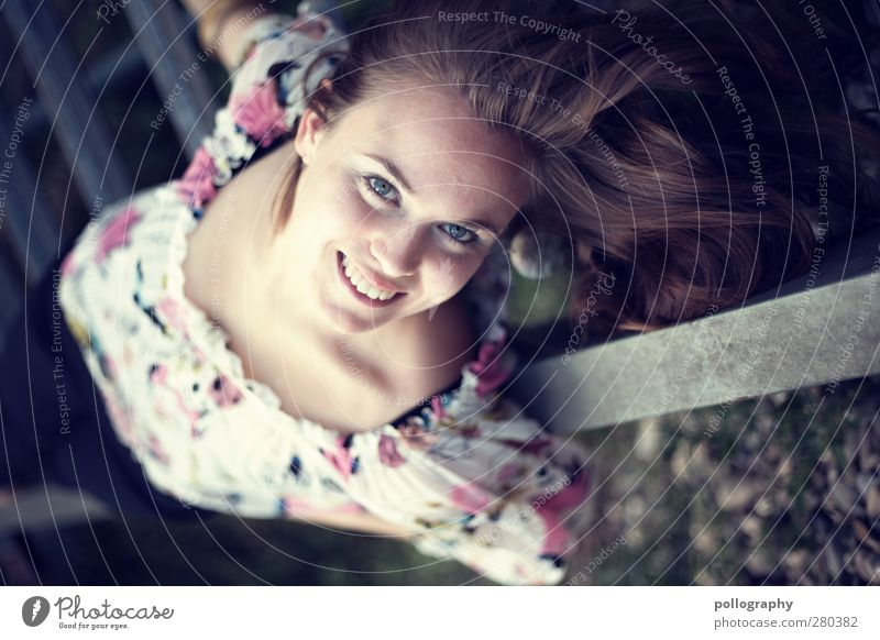 Human being Woman Youth (Young adults) Beautiful Joy Adults Feminine Life Young woman Emotions Laughter Happy Dream 18 - 30 years Lie Contentment