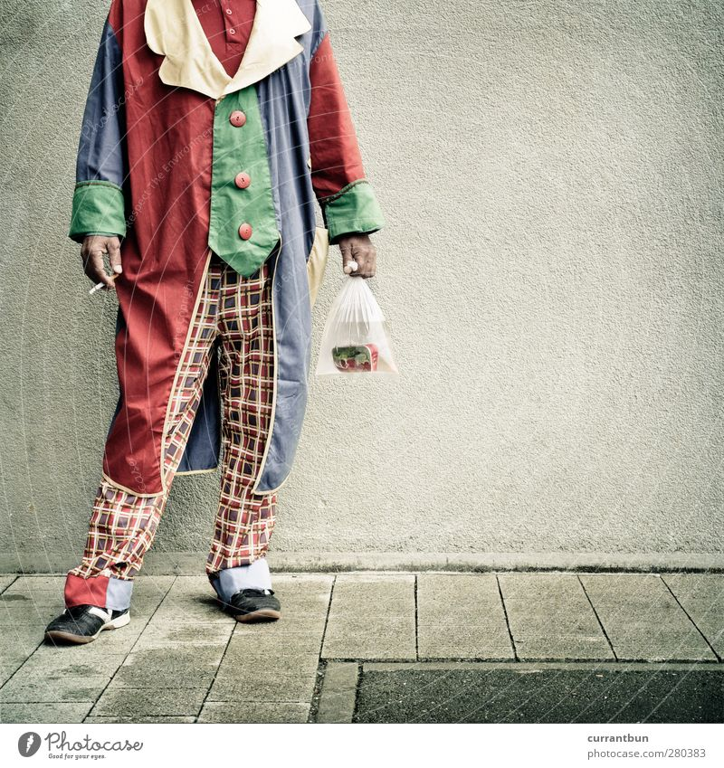 Human being Man Adults Footwear Masculine 45 - 60 years Whimsical Cigarette Clown Circus Circus act