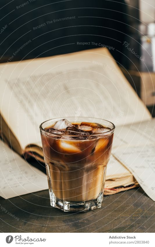 Cold espresso coffee glass Antique Aromatic Beans Beverage Book Breakfast brew Brown Caffeine Coffee Coffee break Coffee pot Cream Cup Drinking Enamel