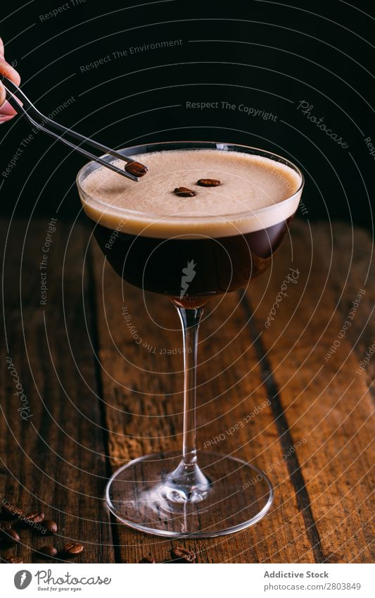 Espresso martini cocktail Alcoholic drinks Beans Beverage Black Caffeine Cocktail Coffee Cold cold brew Cup Drinking espresso martini Foam Food Glass Gourmet