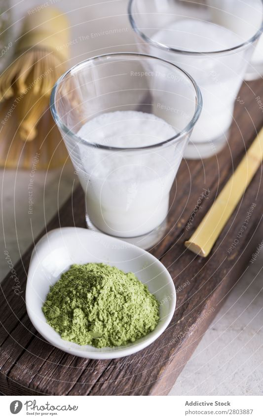 Matcha latte Wood Powder matcha tea Herbs and spices Milk Drinking Tea Beater Scoop Teapot Japanese assorted Healthy Green Beverage Water brew Bamboo Glass
