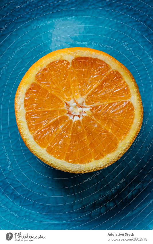 Fresh orange in a teal plate Healthy citrus Juicy Background picture Fruit Orange Green Delicious Meal Dessert Still Life Plant Eating California Acid Dish