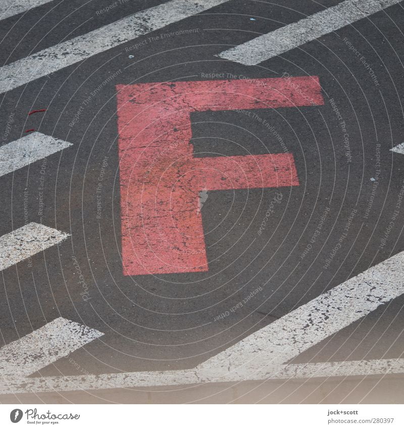 /F/ City Dye Lie Arrangement Design Signs and labeling Modern Characters Simple Stripe Cool (slang) Ground Planning Asphalt Strong