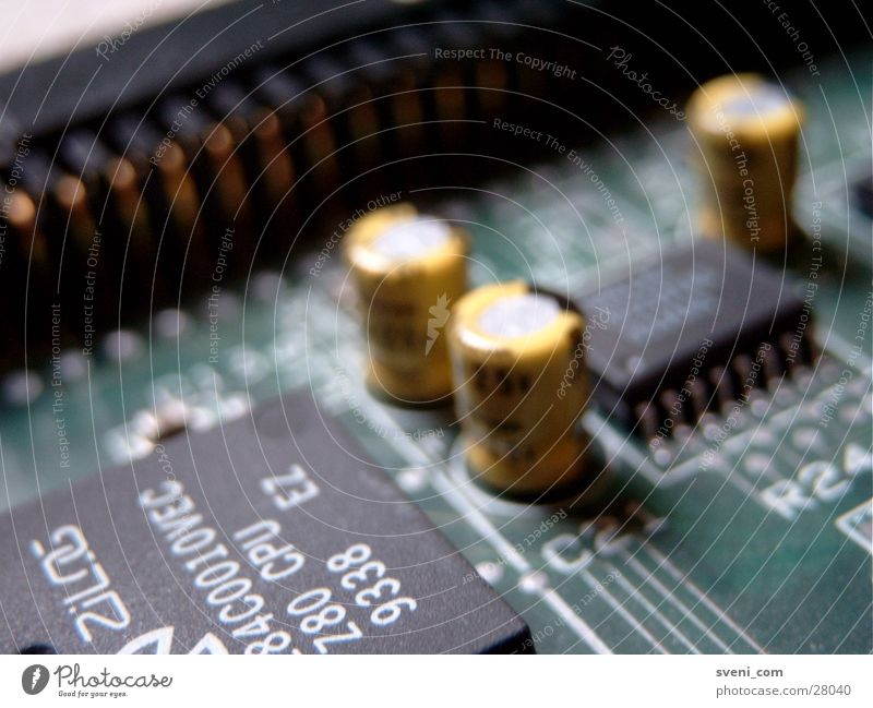 SCSI board Circuit board Transistor Processor Microchip Green Yellow Electrical equipment Technology resistance