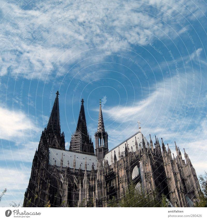 Cologne I Architecture Culture Town Downtown Dome Building Tourist Attraction Landmark Monument Cologne Cathedral Stone Concrete Metal Steel Esthetic