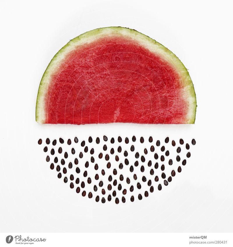 No seeds. Art Work of art Esthetic Melon Melone slice Water melon Red Japan Kernels & Pits & Stones Pomacious fruits Fruit Healthy Vitamin Sheath Summer