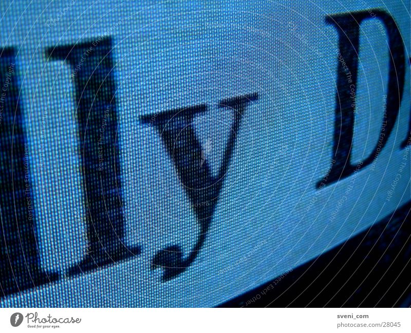 Characters Television Letters (alphabet) Typography RGB
