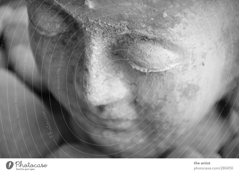 Buddha Sculpture Stone Think Relaxation Firm Happy Gray Contentment Acceptance Safety Attentive Peace Art Calm Buddhism Statue of Buddha Black & white photo