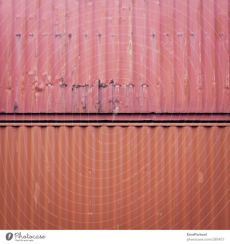 DoubleRed Industry Trade Logistics Transport Metal Orange In pairs 2 Container Rustic Old Abrasion Square Line Abstract Minimalistic Colour photo Exterior shot