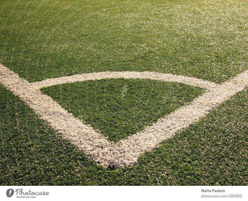 Green White Sports Line Corner Lawn Playing field Grass surface Corner Arch At right angles