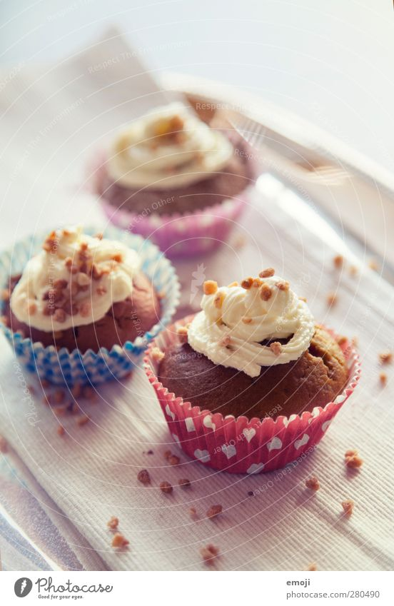 cupcakes Dough Baked goods Candy Nutrition Picnic Slow food Finger food Delicious Sweet Dessert Cupcake Colour photo Interior shot Deserted Day