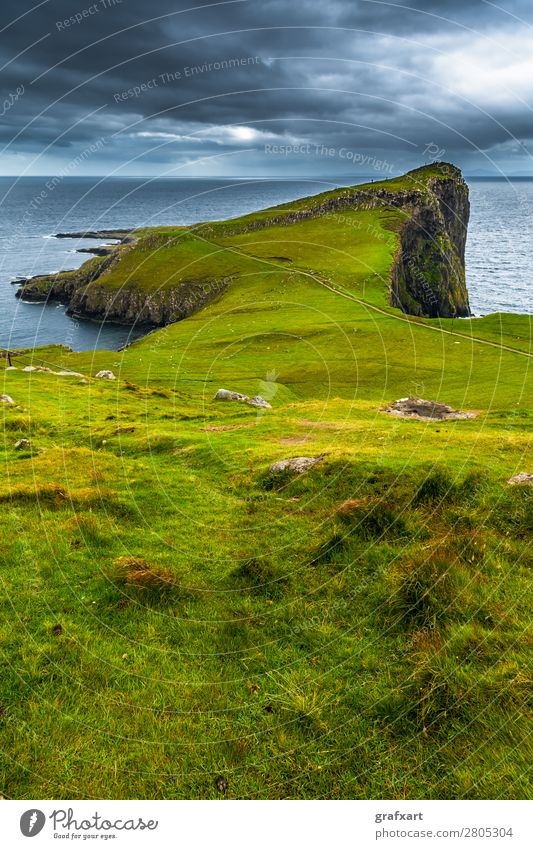 Cliffs at Neist Point on the Isle of Skye in Scotland Atlantic Ocean Vantage point dunvegan Relaxation Geology Great Britain Peninsula Western islands Highlands