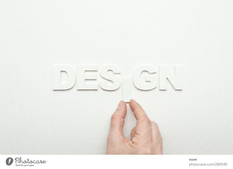 iDesgn Style Design Advertising Industry Hand Fingers Characters Esthetic Simple Bright Clean White Idea Inspiration Creativity Letters (alphabet) Word Clarity