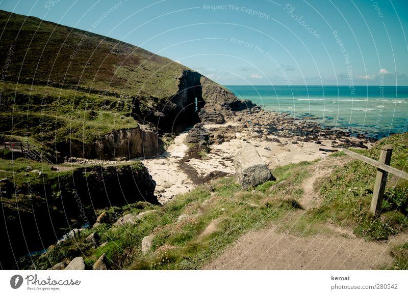 Sky Water Beautiful Summer Plant Ocean Beach Clouds Landscape Environment Grass Coast Horizon Rock Earth Island