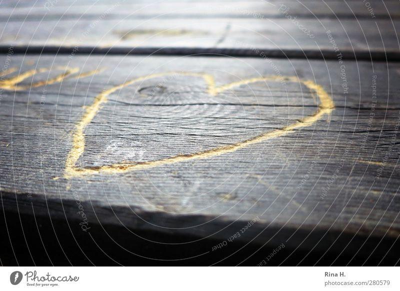 Love Wood Heart Romance Infatuation Wooden table