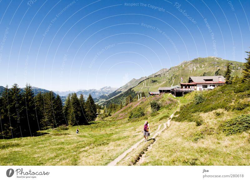 Isenau Harmonious Relaxation Calm Vacation & Travel Trip Freedom Summer Mountain Hiking Footpath Sporting Complex Feminine Baby Nature Landscape Plant Elements