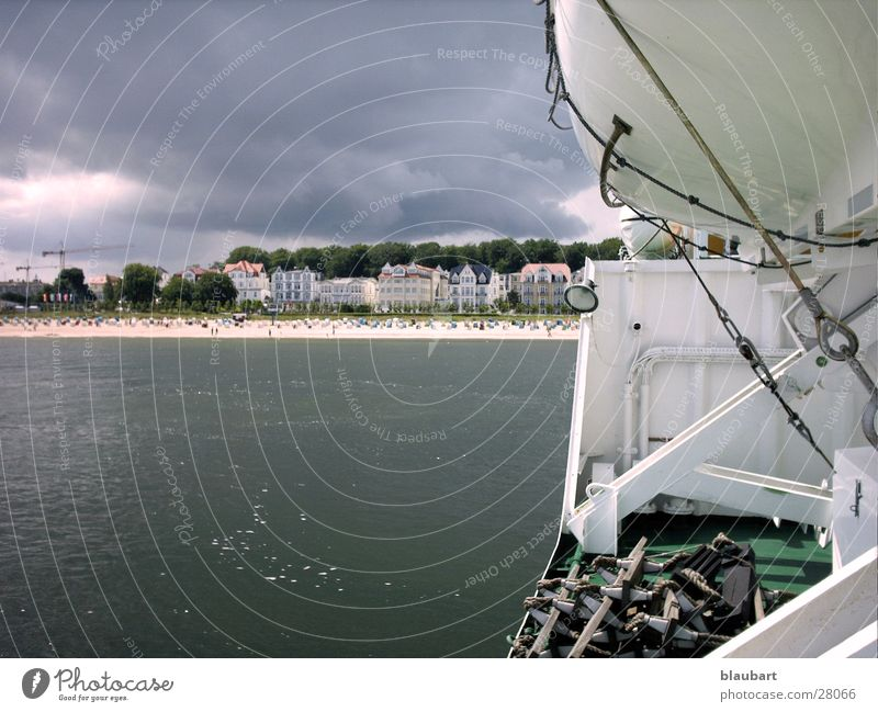 Water Cold Gray Lake Rain Watercraft Wind Weather Europe Baltic Sea Ocean