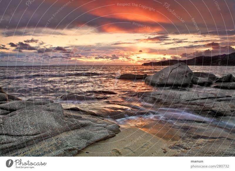 Sky Nature Water Vacation & Travel Sun Ocean Beach Clouds Landscape Coast Sand Rock Waves Island Elements Hill