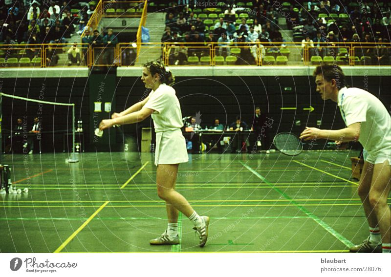 Sports Lady Service Gentleman Badminton