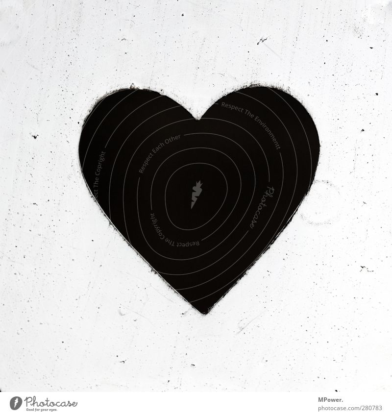 herz´l Heart Black White Love Infatuation Passion Married Deserted Neutral Background Isolated Image Valentine's Day