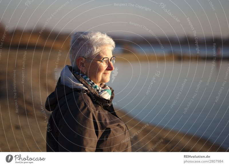 Senior looks into the distance Lifestyle Well-being Contentment Relaxation Calm Human being Feminine Female senior Woman Grandmother Senior citizen 1