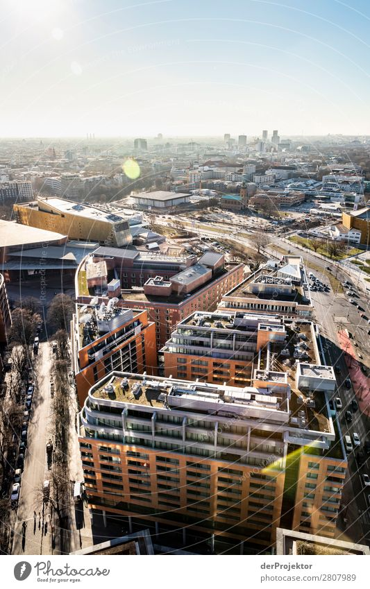 Berlin Panorama with view of Potsdamer Platz City trip Freedom Sightseeing Landscape Adventure Autumn Capital city Manmade structures Architecture