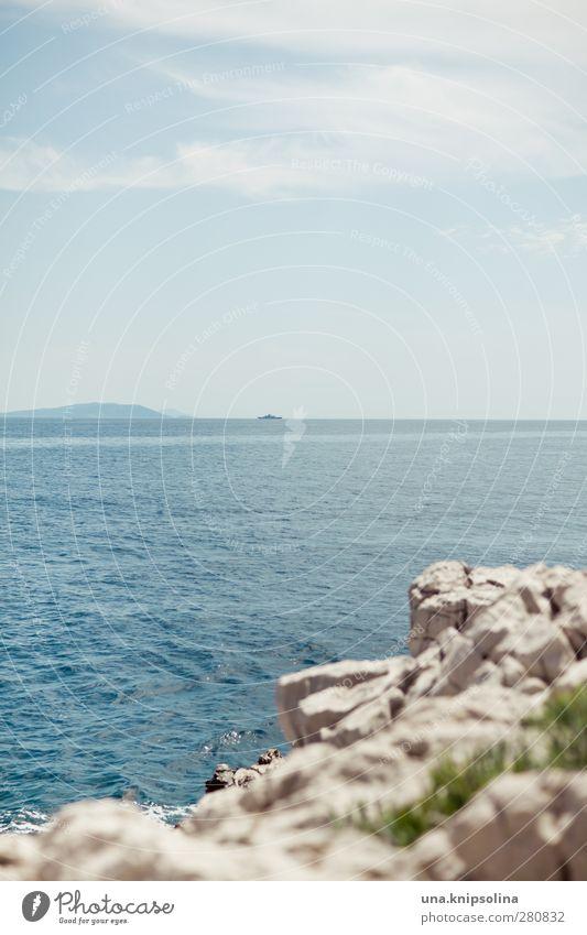 By the sea Vacation & Travel Summer Summer vacation Ocean Waves Environment Landscape Rock Coast Adriatic Sea Croatia Sharp-edged Wet Natural Warmth Blue