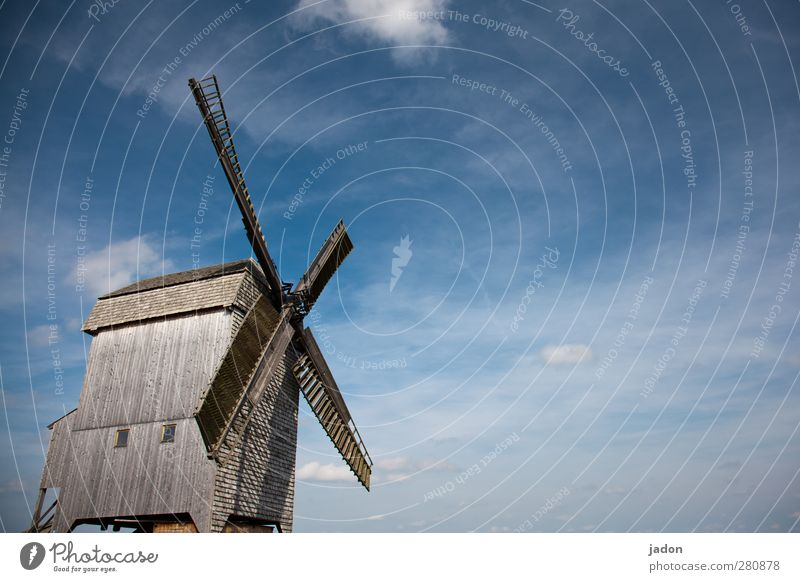 come on, wind. Elegant Flat (apartment) Miller Craft (trade) Pinwheel Windmill Architecture Sky Clouds Brandenburg Industrial plant Tourist Attraction Monument