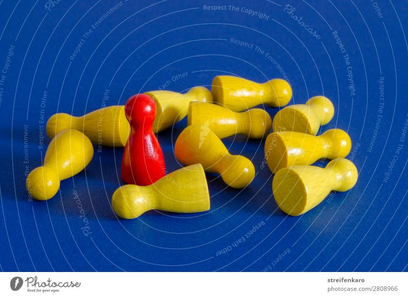 Blue Red Wood Yellow Group Fear Lie Power Stand Success Threat Might To fall Anger Toys Brave