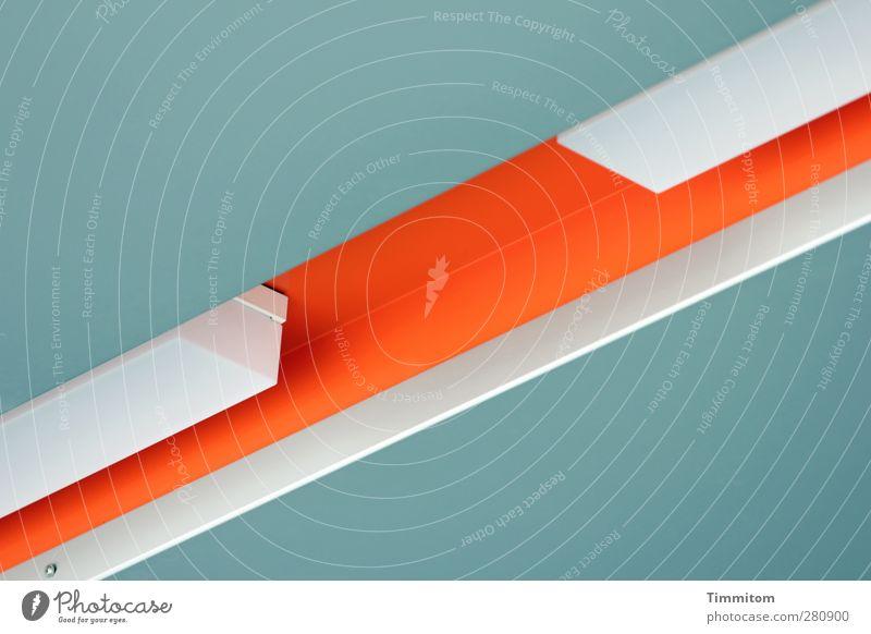 White Lamp Orange Esthetic Roof Clean Simple Furrow