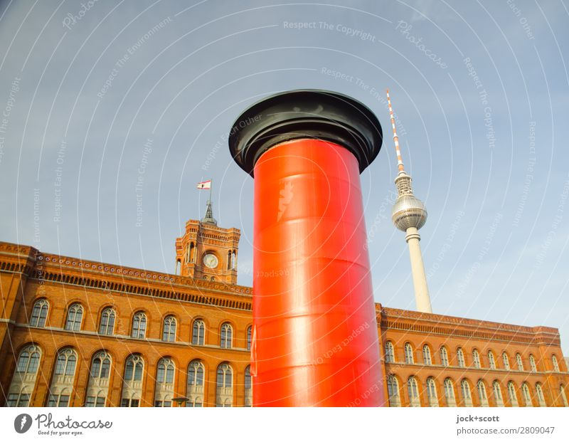 commercial break Style Sightseeing Advertising Industry Cloudless sky Beautiful weather Downtown Berlin Manmade structures Building Architecture