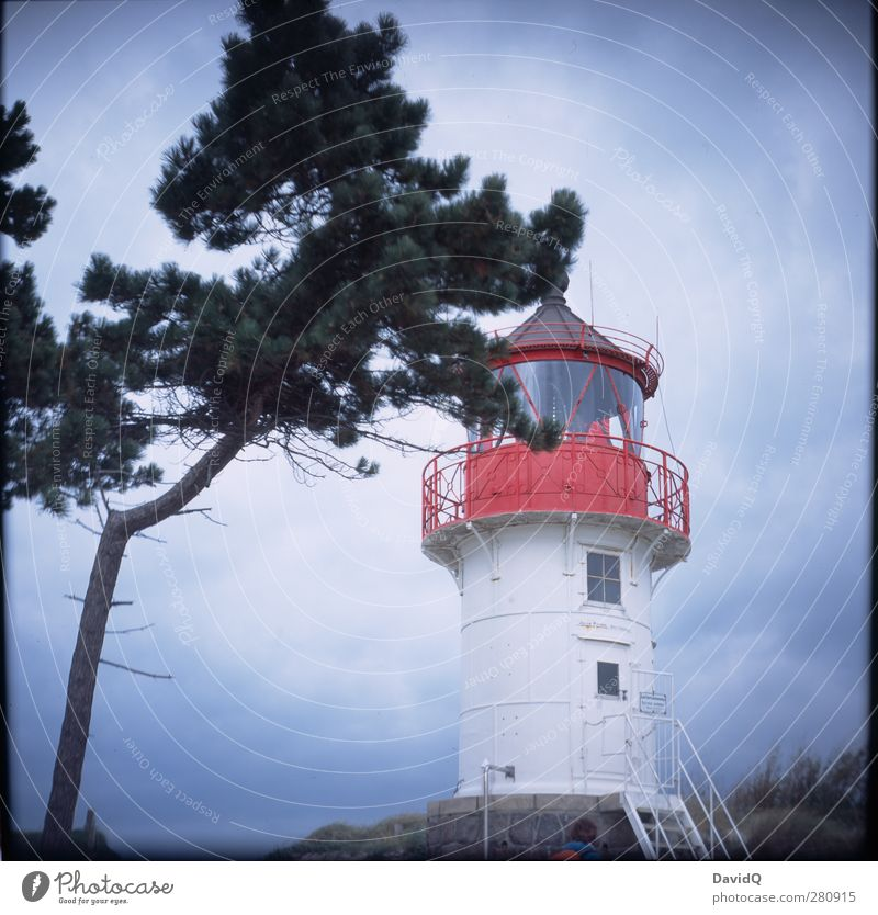 south Environment Nature Landscape Sky Clouds Weather Bad weather Coast Baltic Sea Lighthouse Manmade structures Building Tourist Attraction Landmark Navigation