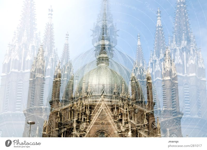 The church stays in the village Cloudless sky Vienna Austria Church Dome Manmade structures Building Architecture Tourist Attraction Large Religion and faith