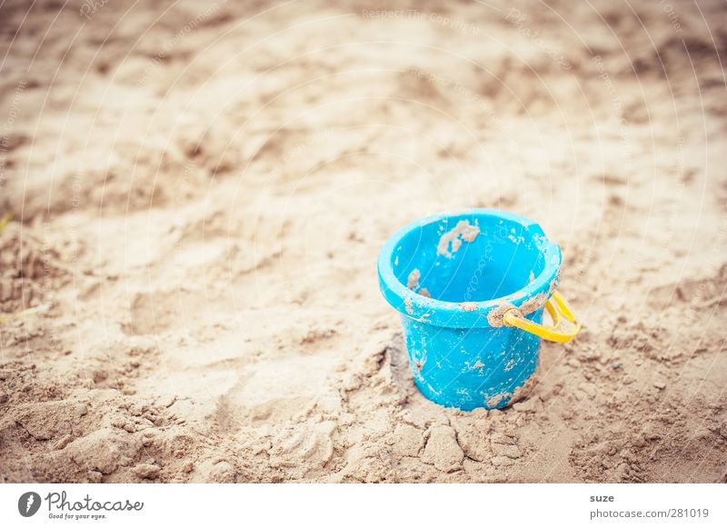 little bucket Lifestyle Playing Vacation & Travel Summer Beach Infancy Environment Nature Elements Sand Beautiful weather Toys Plastic Authentic Small Natural