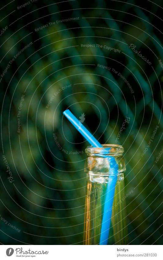 lemonade pipeline Lemonade Bottle Straw Illuminate Blue Green Thirst To enjoy Infancy Neck of a bottle Empty Beverage Wire netting fence Second-hand