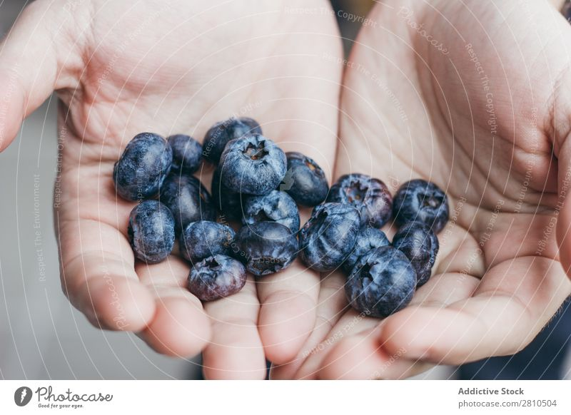 Handful of ripe blueberry Blueberry Berries Fruit handful Food Sweet Juicy Fresh Rip Mature Healthy Tasty Organic Diet Dessert Nature Vitamin Delicious Natural