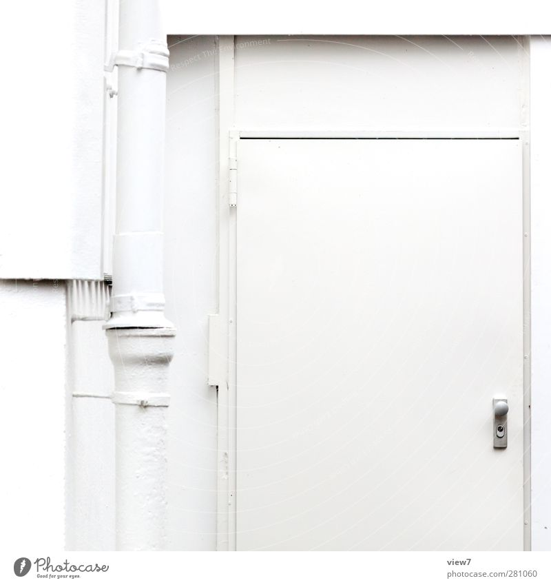 Old White House (Residential Structure) Cold Wall (building) Wall (barrier) Metal Line Time Door Facade Authentic Free Concrete Beginning Esthetic