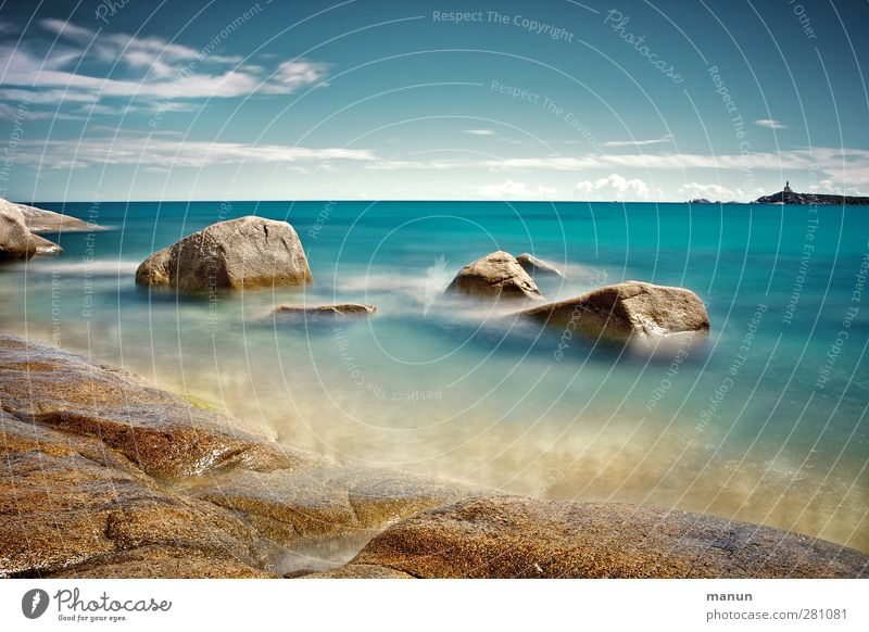 Cava Usai Vacation & Travel Landscape Elements Water Sky Rock Waves Coast Bay Reef Ocean Sardinia Authentic Natural Wanderlust Colour photo Exterior shot