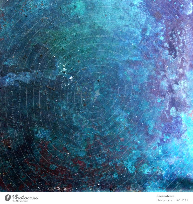 Sky Blue Metal Infinity Universe Violet Turquoise Rust Surface Surface structure Milky way